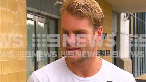 Jack Watts apologises for his actions over a shocking video that shows him snorting white powder off a woman's chest.