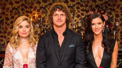 Sophie Tieman, Nick Cummins, Brittany Hockley in The Bachelor