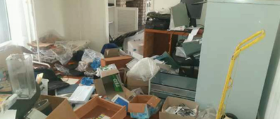 The home was completely ransacked.