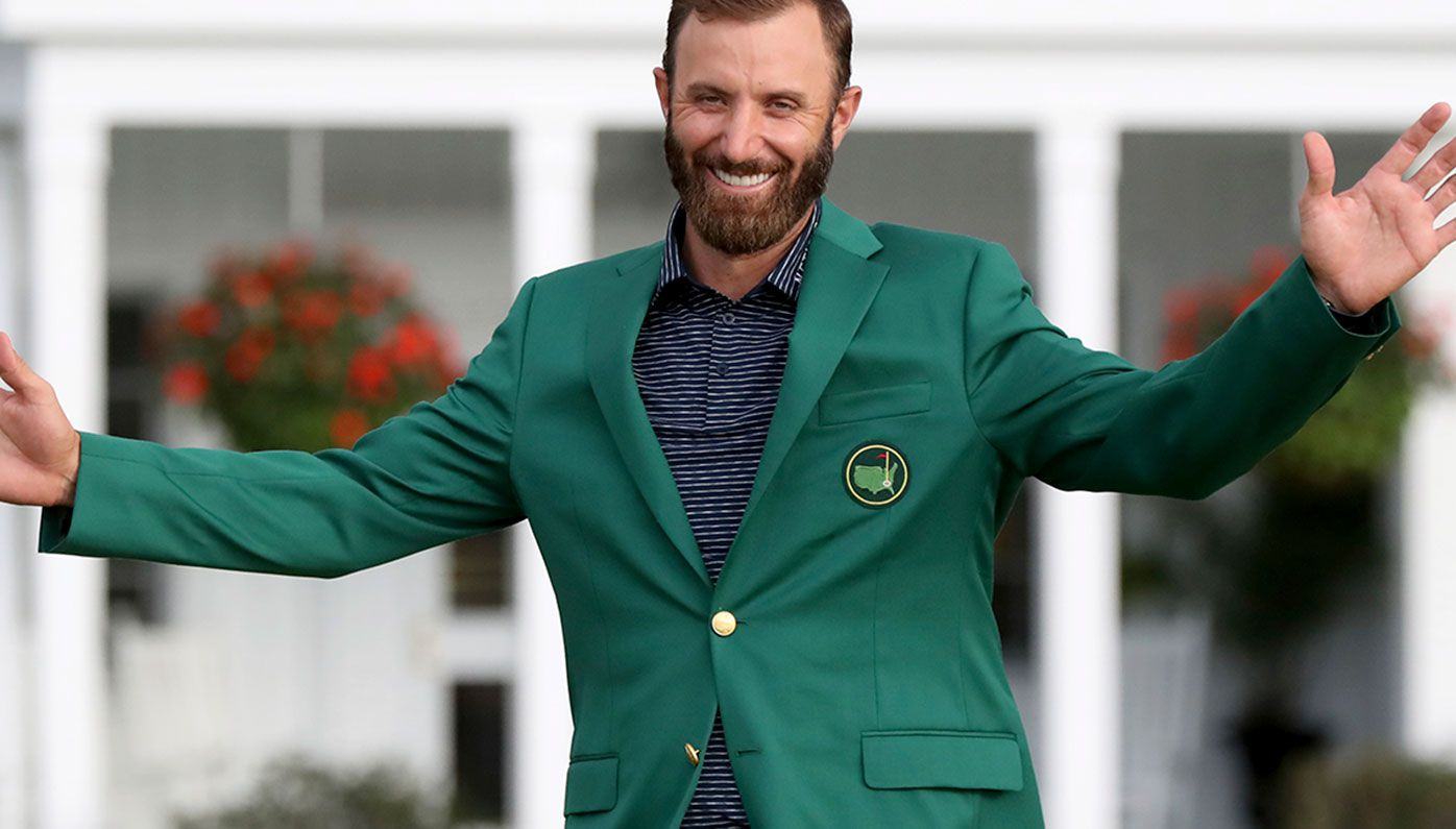 Dustin Johnson has claimed his first green jacket.