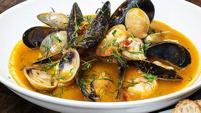 Bouillabaisse with homemade stock