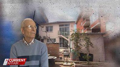 Man's house crumbles around him because of construction next door