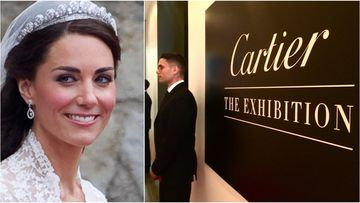 Kate's wedding tiara the jewel in Cartier exhibition crown