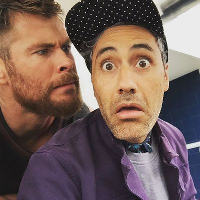 And Chris loves his director. We love their faces.