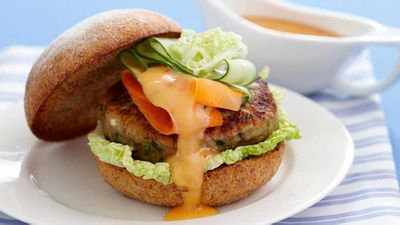Thursday: Oriental chicken burgers