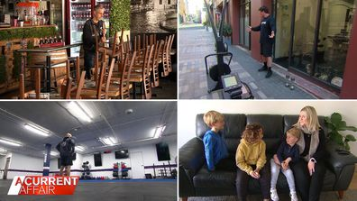 Businesses and families left struggling through Sydney's extended lockdown.