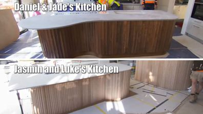 Daniel and Jade's Kitchen counter vs Jasmin and Luke's. Inspiration or plagiarism? You decide. The Block 2020.