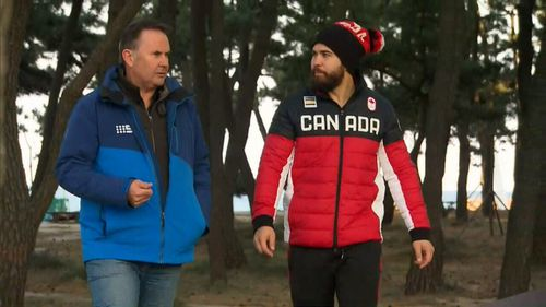 The Canadian bobsledder misses one thing about home. (9NEWS)