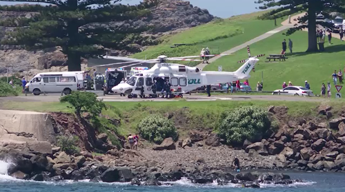 The snorkelling group got caught in an undercurrent and a 33-year-old man was unable to be revived.