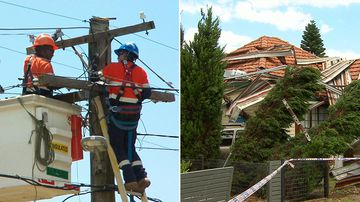 Clean up efforts are set to continue after Friday's intense burst of thunderstorms in Sydney, even as residents in several suburbs were without power for a second night.