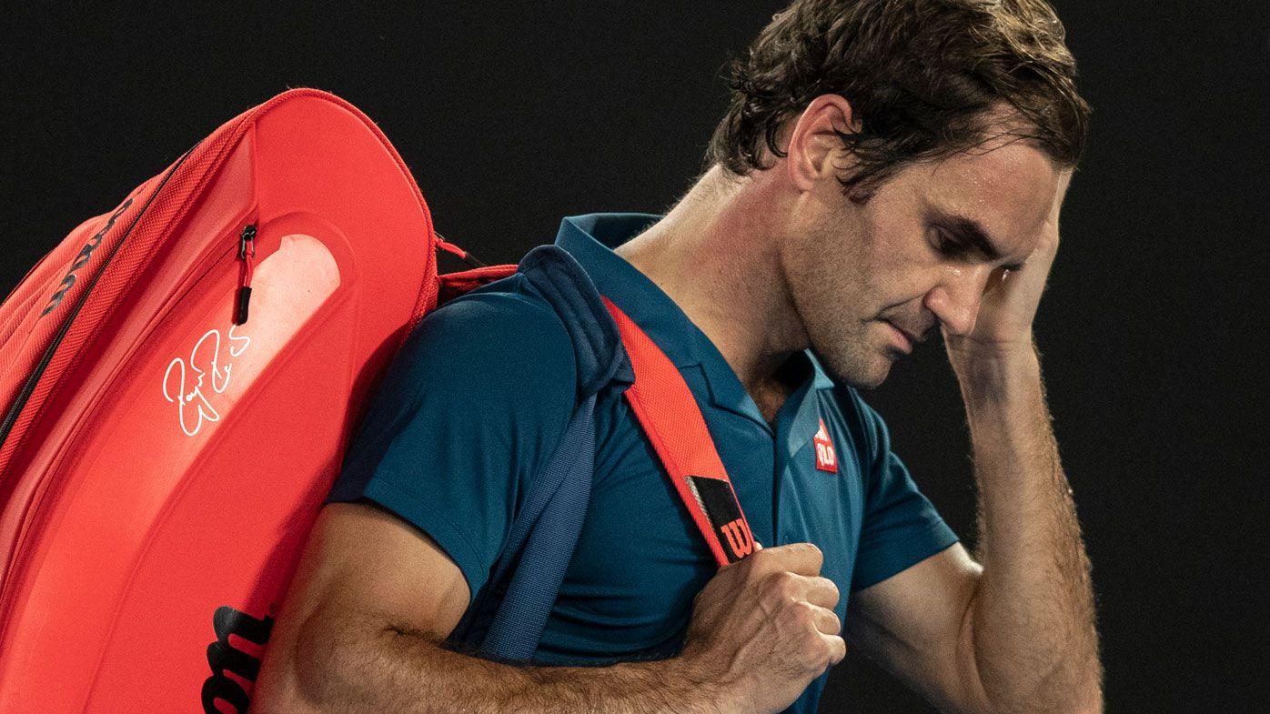 'The next generation is coming': Lleyton Hewitt breaks tennis' new world order as Roger Federer falls to Stefanos Tsitsipas at Australian Open