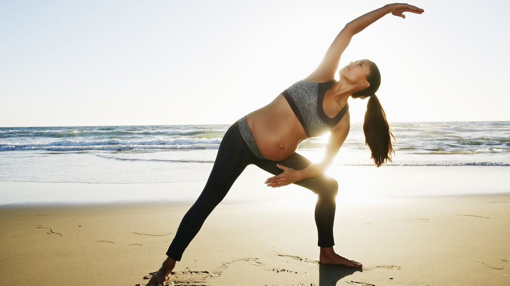 Sexy, strong and pregnant - oh yes you can. Image: Getty.
