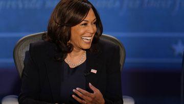 Kamala Harris during the vice-presidential debate, October 7 2020