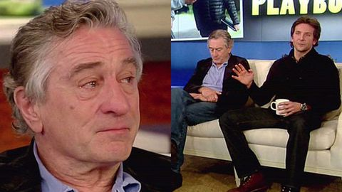 Watch: Robert De Niro breaks down during TV interview