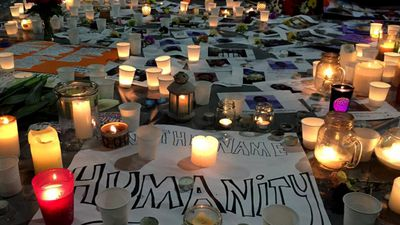 Candles in Martin Place, Sydney. The vigil was held after it became clear last-minute efforts to save the pair from the firing squad had failed. (AAP)