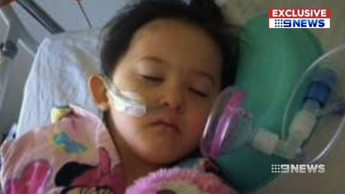 Amber suffers from a rare heart defect.