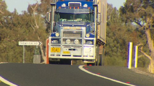 Road trains now thunder past the home, disturbing the residents day and night.