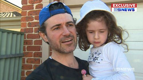 Adelaide father Luke Turton told 9NEWS of his split-second decision that saved his two daughters' lives in a frightening car collision today.