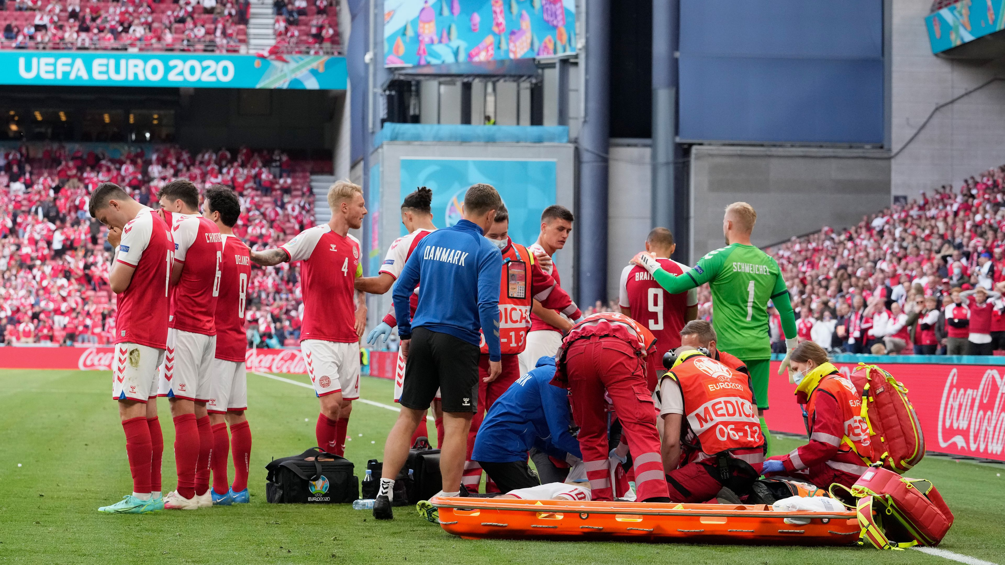 UEFA Euro 2020: World in shock as Denmark player Christian Eriksen collapses mid-game, given CPR