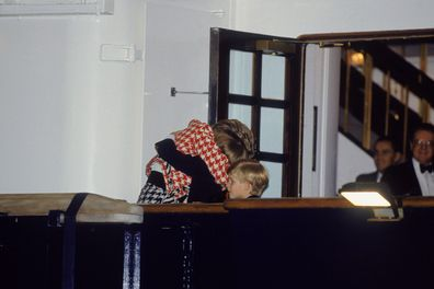 Princess Diana greets her sons in Canada.