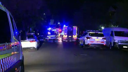 It's believed the man was homeless and was inside the carpark trying to keep warm. (9NEWS)