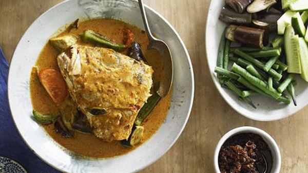 Fish head curry (Gulai kepala ikan)