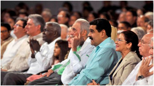 The former president of Cuba was joined by family and supporters at a televised gala. (AFP)