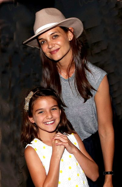 Cruising:  Katie Holmes and Suri Cruise dressing down backstage at a musical performance.