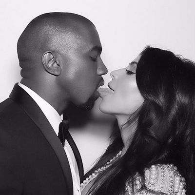 <p>Kanye West and Kim Kardashian West</p>