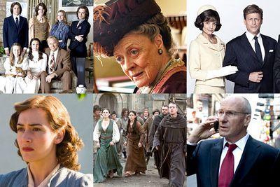 <i>Cinema Verite</i><br/><br/><i>Downton Abbey</i><br/><br/><i>The Kennedys</i><br/><br/><i>Mildred Pierce</i><br/><br/><i>The Pillars of the Earth</i><br/><br/><i>Too Big to Fail</i>