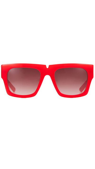 "<a href=""http://www.pared.com.au/all/bread-and-butter-poppy-red"" target=""_blank"">Sunglasses, $220, Ginger & Smart x Pared</a>"