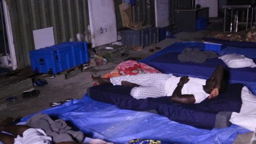 Up to 40 men are sleeping in one room, some on mattresses. (Supplied)