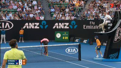 Tiebreak king Kyrgios through in Open