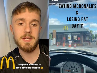 Personal trainer reveals how he 'lost weight' eating McDonald's every day