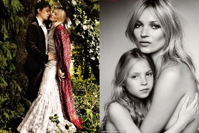 <b>Kate Moss</b> married rockstar <b>Jamie Hince</b></a> back in August. Kate wore a dress designed by the now-controversial John Galliano, who has long considered the 37-year-old model his muse.