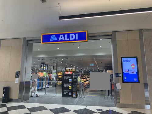 Aldi shop front front Castle Hill