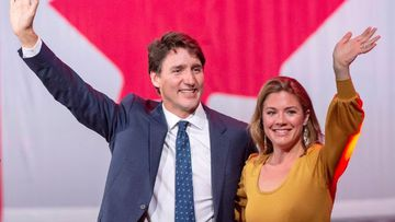 Canadian Prime Minister Justin Trudeau with his wife Sophie.