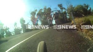 Roo almost takes out cyclists