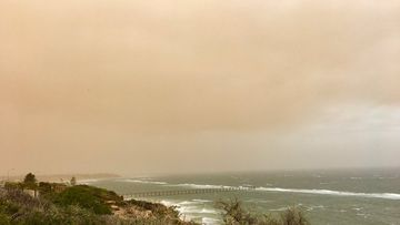 Adelaide dust storm skies Tuesday April 13