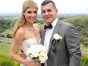 Greg Bird with new wife, Beccy.