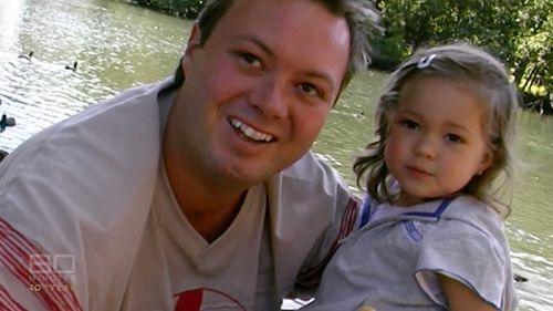 Dhakota with her dad, gangster Carl Williams. Picture: 60 Minutes