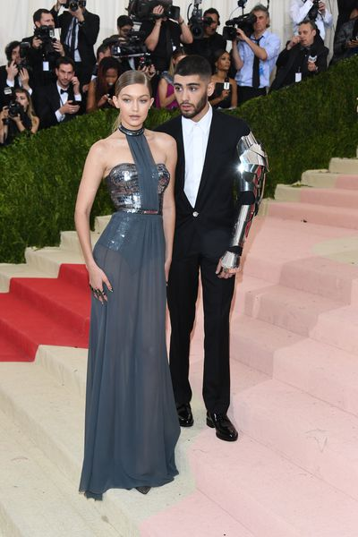<p>6. Gigi Hadid accessorised with partner Zayn Malik attend the 'Manus x Machina: Fashion In An Age Of Technology' Costume Institute Gala at the Metropolitan Museum on May 02, 2016 in New York. </p> <p>While Zayn wore a cyborg-inspired sleeve, Gigi stuck to a metallic moment in Tommy Hilfiger.</p>