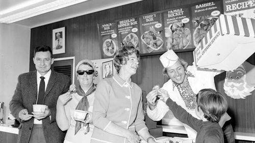 KFC began in Kentucky in the United States as a roadside chicken service station that generated a cult following that then came to Australia. Picture: Supplied.