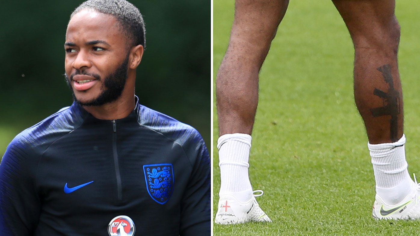 England manager Gareth Southgate backs Raheem Sterling's gun tattoo