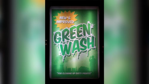 "Ah, the cleaning power of ""green wash""! (brandalism.org.uk)"