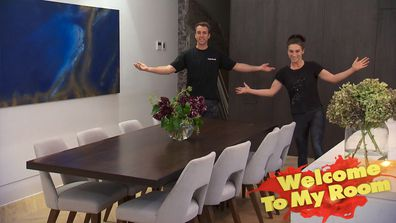 Jesse and Mel love everything about their winning living and dining room