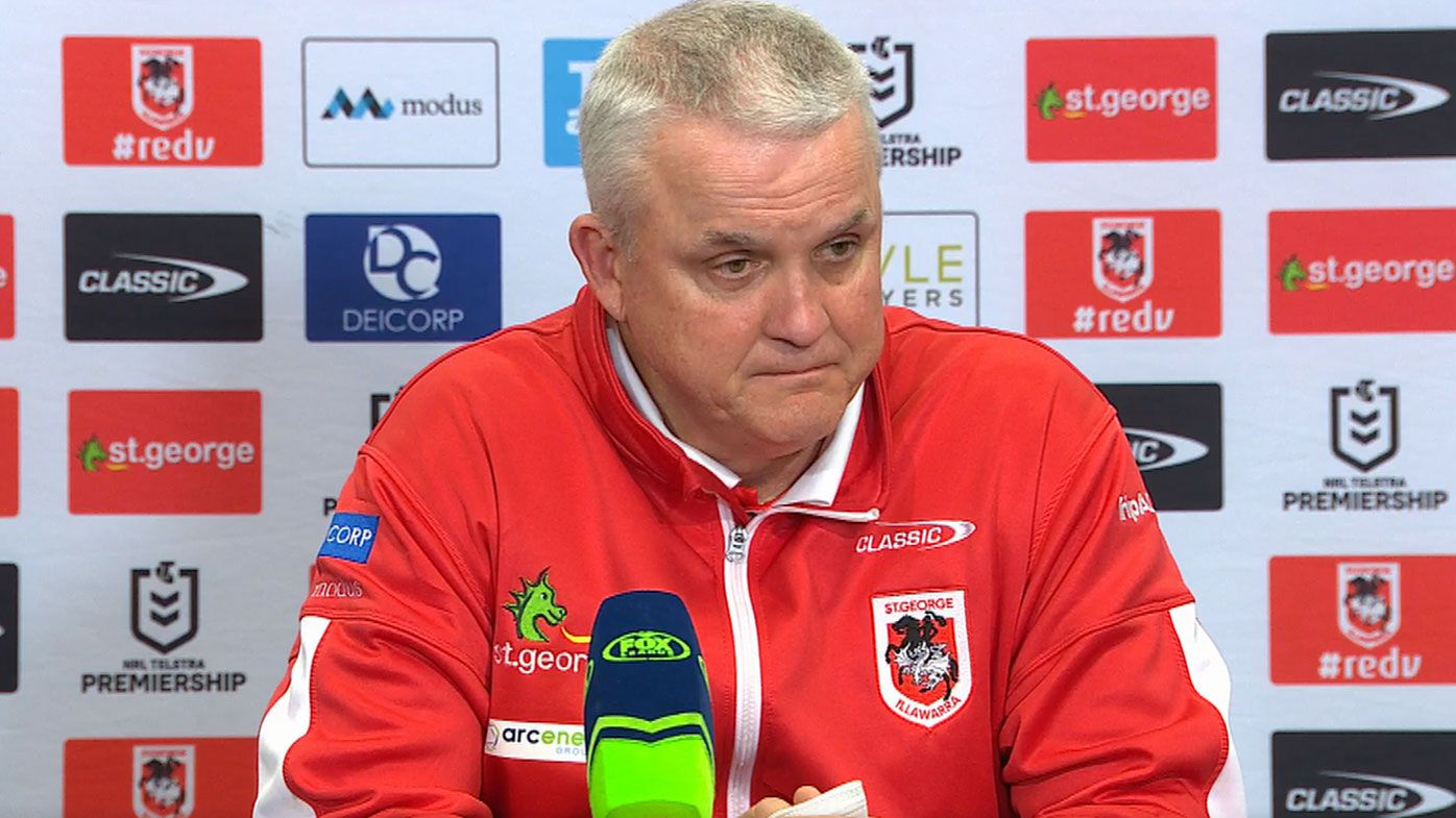 'Dodgy calls' leave Dragons coach Anthony Griffin fuming after loss to Penrith