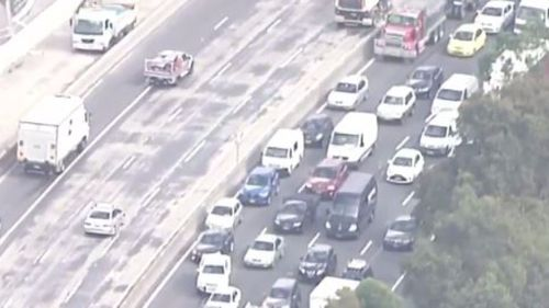 Traffic remains heavy in the area. (9NEWS)