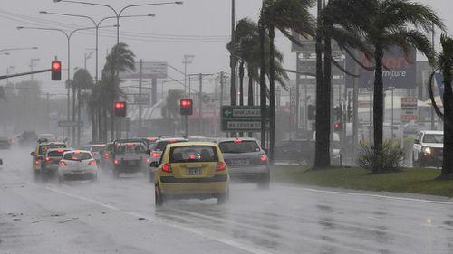 Rain wreaking havoc for drivers on the Sunshine Coast. (AAP)