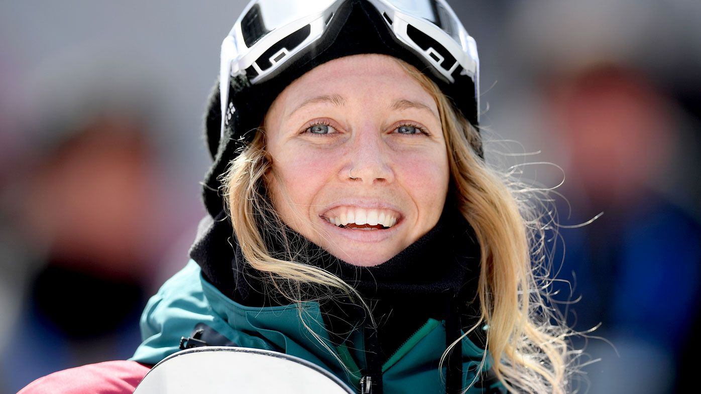 Australian snowboarder Jess Rich after competing in PyeongChang. (AAP)